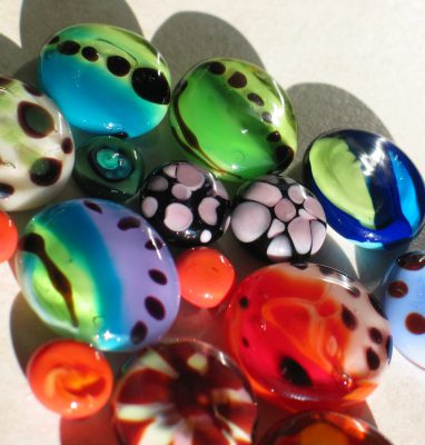 Cabochons_Lampwork_Murano_Verre_Rond_Filage_Chalumeau_Artisanal_Multicolore