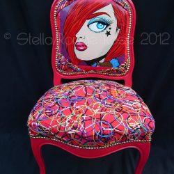 Collaboration avec ©RougeRose pour réfection fauteuil baroque