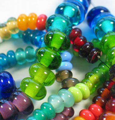 Perles_Rondes_Verre_Lampwork_Artisanal_Multicolores