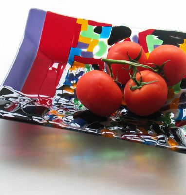 Plat_Service_Fusing_Verre_Rectangulaire_Artisanal_Multicolore_Unique