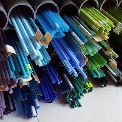 Rods de verre destinés au travail du filage au chalumeau