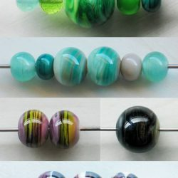 Set de perles de verre filées à la flamme